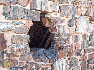 Agate House Pueblo - Image: Petrified Forest National Park Agate House 900 2