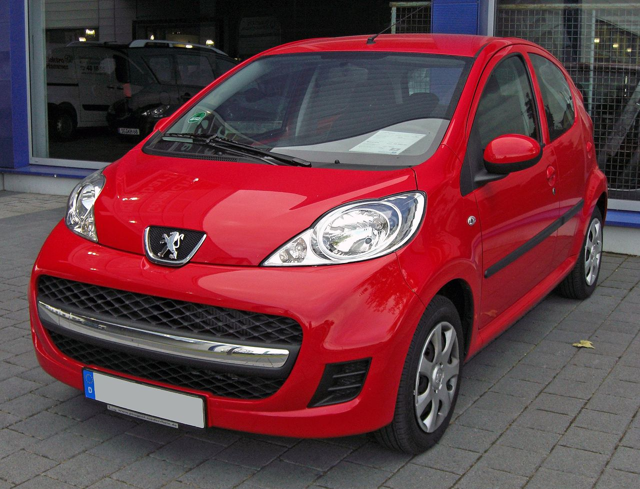 file peugeot 107 facelift 20090603 front jpg wikimedia. Black Bedroom Furniture Sets. Home Design Ideas