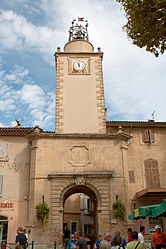 The 17th century bell tower in Peyrolles-en-Provence