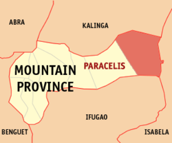 Map of Mountain Province with Paracelis highlighted