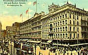 8th and Market Street, showing the Strawbridge and Clothier department store, 1910s.
