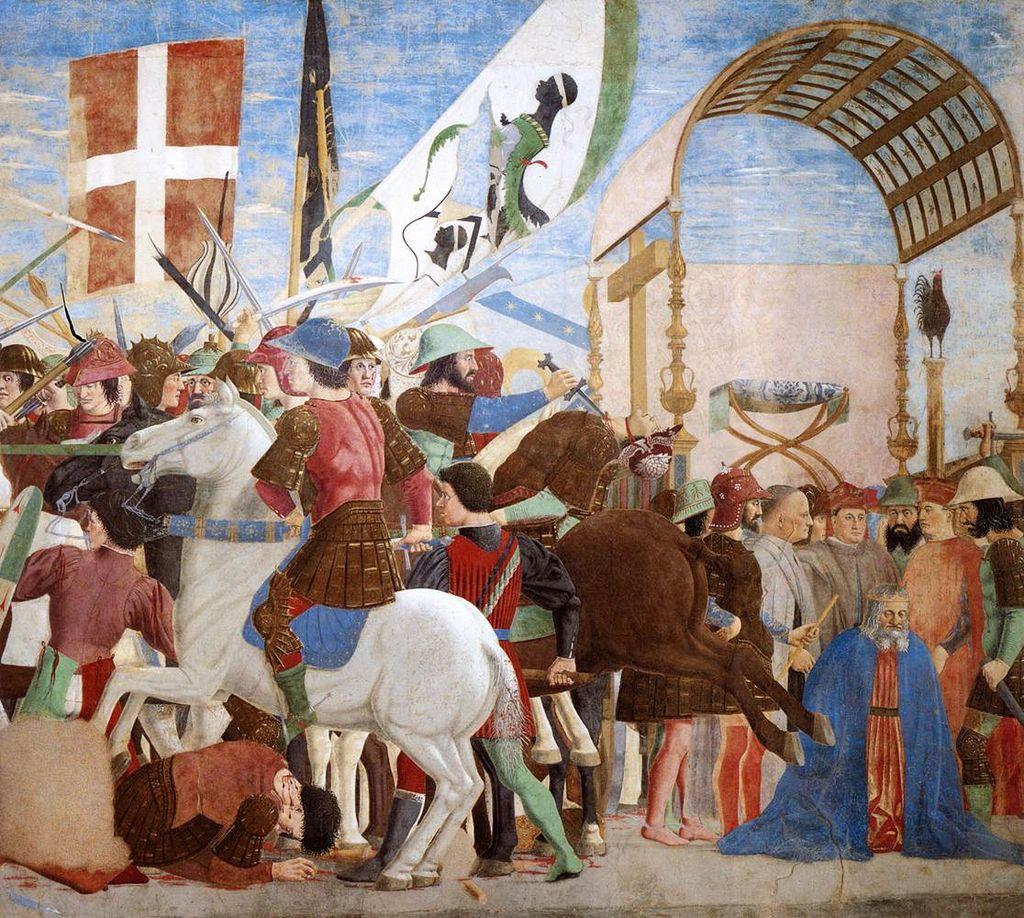 Piero della Francesca - 8. Battle between Heraclius and Chosroes (detail) - WGA17562