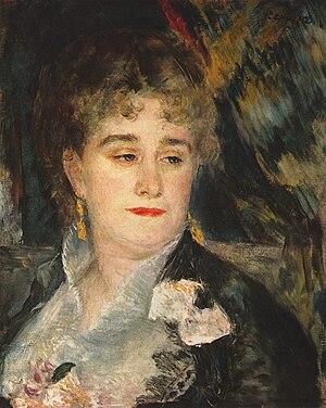 Marguerite Charpentier - Pierre-Auguste Renoir, Mme Charpentier, c. 1876.
