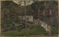 Piet Mondriaan - Farm building with fence reaching to the water - 0334217 - Kunstmuseum Den Haag.jpg