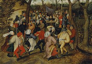Flemish people - The Wedding Dance by Pieter Brueghel the Younger, 1625