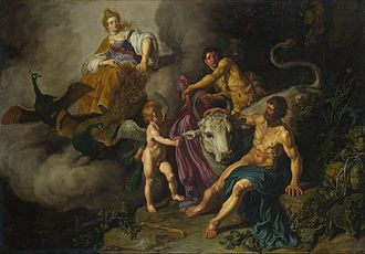 Io (mythology) - Pieter Lastman  Juno Discovering Jupiter with Io