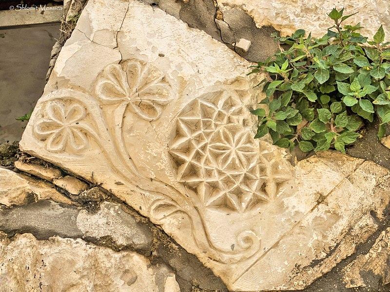 חלק של משקוף מעוטר, צפת העתיקה
