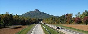 Interstate 74 in North Carolina - Pilot Mountain Parkway
