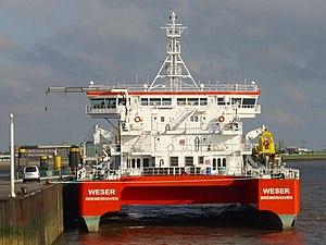 Pilot ship Weser rear view.jpg