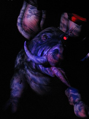 Pink Floyd pigs - Backdrop from a Pink Floyd tour