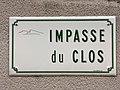 Plaque Impasse Clos - Solutré-Pouilly (FR71) - 2021-03-02 - 1.jpg