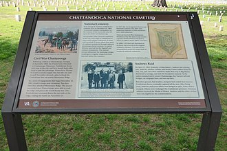 Chattanooga National Cemetery - Plaque about the Chattanooga National Cemetery