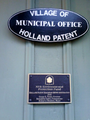 Plaque on Holland Patent Train Station.png