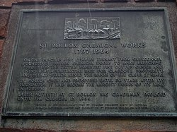 Photo of Charles Tennant bronze plaque