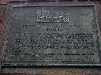 Sighthill, Glasgow - Plaque on the site of the former St. Rollox Chemical Works