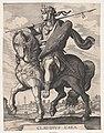 Plate 5- Emperor Claudius on Horseback, from 'The First Twelve Roman Caesars' after Tempesta MET DP857122.jpg