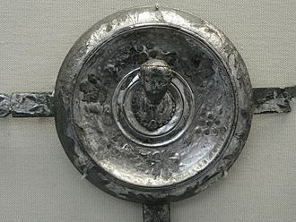 "Equites - Bridle ornament inscribed Plinio Praefecto (""Property of the prefect Pliny""), found at Castra Vetera legionary base (Xanten, Germany), believed to have belonged to the classical author Pliny the Elder when he was a praefectus alae (commander of an auxiliary cavalry regiment) in Germania Inferior. Pliny was a hereditary Roman knight of the imperial era who became celebrated for his writings on geography and natural history. He also had a distinguished career as a public servant, in a series of posts reserved for equestrians. He served as a military officer in 44–54, as equestrian governor (procurator Augusti) of two minor provinces in the period 70–77 and then as a secretary of state in Rome to the emperor Vespasian. By 79, he was praefectus classis (admiral commanding) of the main imperial fleet at Misenum in the bay of Naples. In that year, the nearby volcano Mount Vesuvius erupted, burying the surrounding towns of Pompeii and Herculaneum. From his base across the bay, Pliny led out his fleet in an attempt to rescue thousands of survivors trapped by lava-flows on the shore beneath Vesuvius. But after reaching port at Stabiae, Pliny's ships were prevented from putting to sea again for several hours by a strong in-shore gale. Whilst awaiting a change of wind-direction, Pliny died on a nearby beach from inhaling toxic gases. (Source: British Museum, London)"