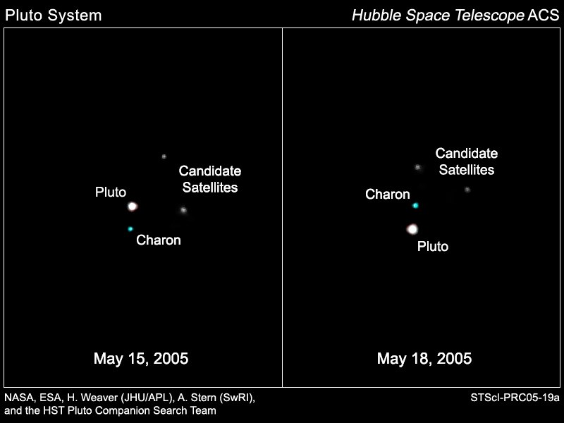 Pluto system 2005 discovery images