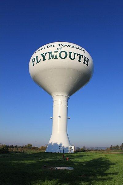 File:Plymouth Township Water Tower, Beck Road ^ Five Mile Road, Plymouth Township, Michigan - panoramio.jpg