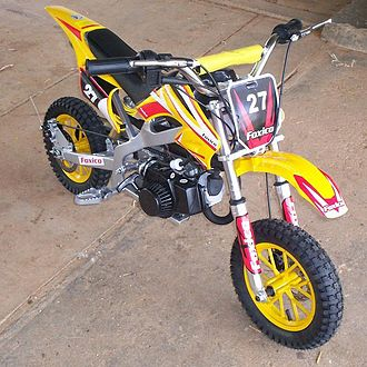 Minibike - A miniature dirt-bike (type of minimoto).