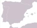 Podarcis atrata range Map.png