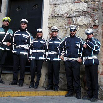 Officers of the Polizia Municipale from Piacenza, Italy Pol mun agenti.jpg