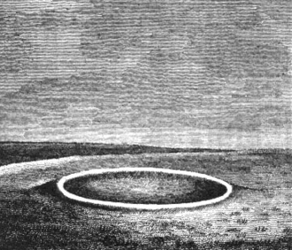 Pond barrow - Engraving of a pond barrow by Richard Colt Hoare