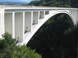 Albert Caquot - The new La Caille bridge near Annecy, 1928.