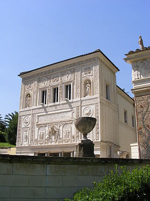 Casina Pio IV - The highly charged Mannerist front of the Casina Pio IV