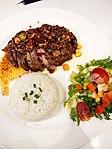 Pork Steak Namtok with Rice.JPG