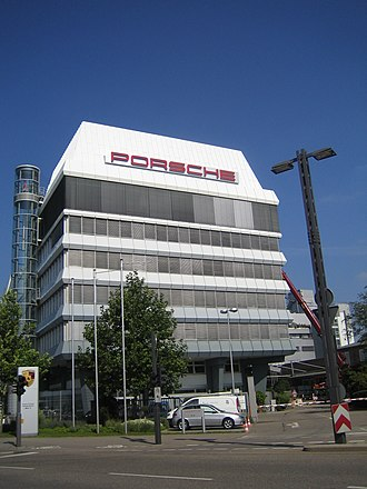 Porsche SE - Porsche headquarters in Stuttgart, Germany