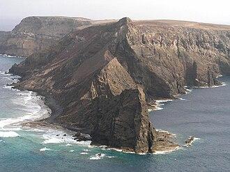 Porto Santo Island - The Ilhéu de Baixo along the unpopulated northern coast