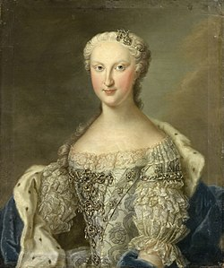 Portrait of Marie Thérèse Raphaëlle of Spain, Dauphine of France in circa 1745 by Daniel Klein the younger.JPG