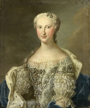 Maria Teresa Rafaela of Spain - Portrait of Marie Thérèse Raphaëlle in circa 1745 by Daniel Klein the younger