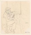 Portrait of the Painter Ditlev Martens at Work Behind and Easel; verso- An Artist Sketching MET DP857015.jpg