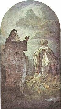 3e5eba8ed436e9 Portrait of Saints Cyril and Methodius for the Orthodox church in Pisek,  North Dakota (1887). Alphons Maria Mucha ...