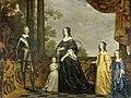 Portret van Frederik Hendrik (1584-1647), prins van Oranje met zijn vrouw Amalia van Solms (1602-75) en hun drie jongste dochters Albertina Agnes (1634-96), Henrietta Catharina (1637-1708) Rijksmuseum SK-A-874.jpeg
