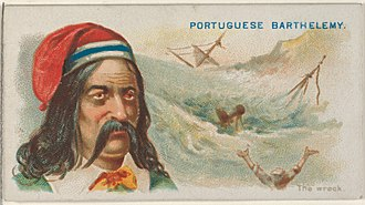 Bartolomeu Português - Image: Portuguese Barthelemy, The Wreck, from the Pirates of the Spanish Main series (N19) for Allen & Ginter Cigarettes MET DP835035