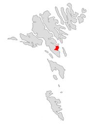 Tórshavn on the Faroe Islands map