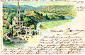 Postcard of Lourdes published in or before 1904.jpg