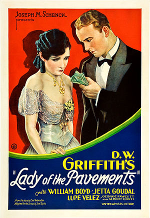 Lady of the Pavements - Theatrical release poster
