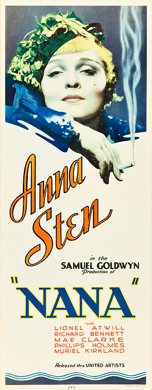 Samuel Goldwyn Productions - Poster for Nana (1934)