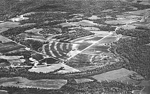 Poverty Point culture - An aerial view of the Poverty Point earthworks, built by the prehistoric Poverty Point culture, located in present-day Louisiana.