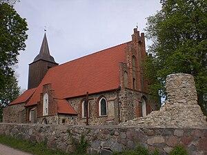 Pręgowo, Pomeranian Voivodeship - Image: Prãgòwò kòscół
