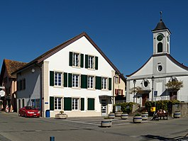 Préverenges village center