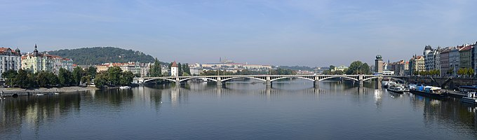 View of Prague from Jiráskuk bridge,