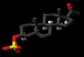 Pregnenolone sulfate molecule skeletal.png