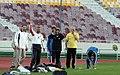President Mahmoud Ahmadinejad, Iran's national football (soccer) team - 28 February 2006 (2 8412090596 L600).jpg