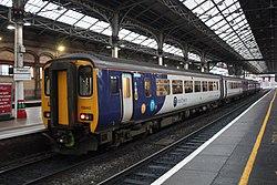 Preston - Arriva 156443+156455 Choley service.JPG