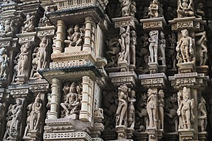 Adinatha temple, Khajuraho - Adinatha temple sculptures